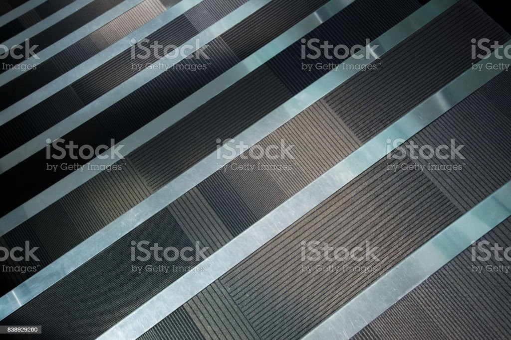 staircase with runner carpet stock photo