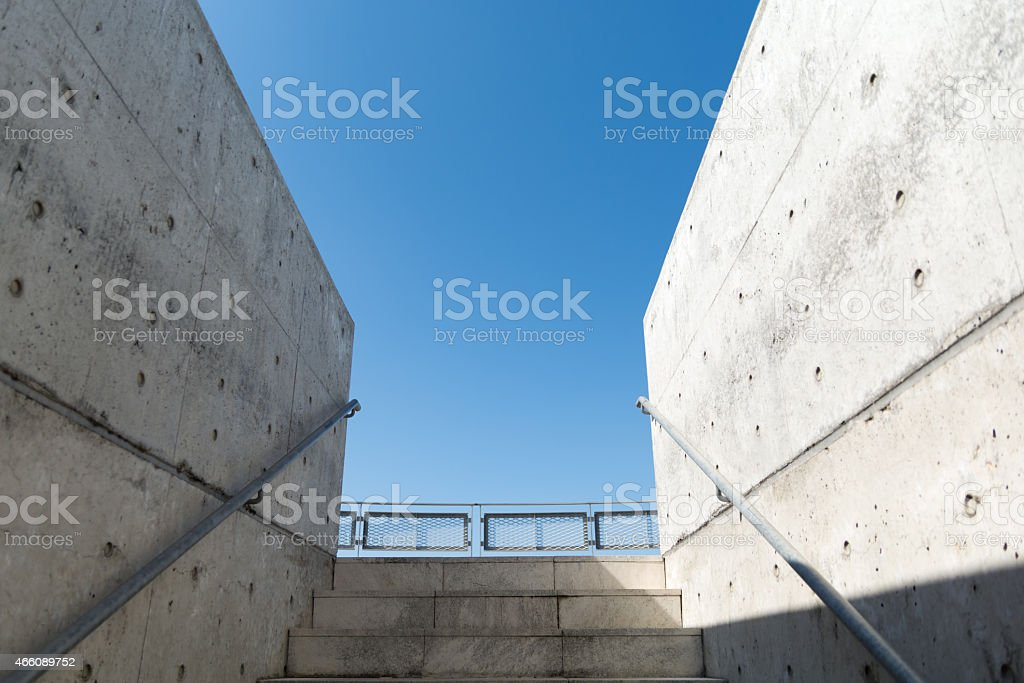 stairs and blue sky royalty-free stock photo