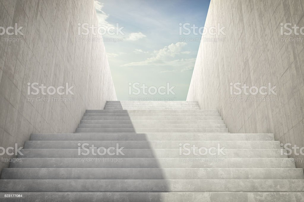 Stairs And Blue Sky stock photo