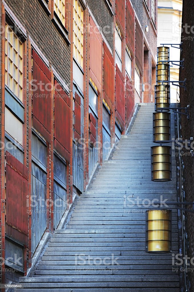 Stairs and building royalty-free stock photo