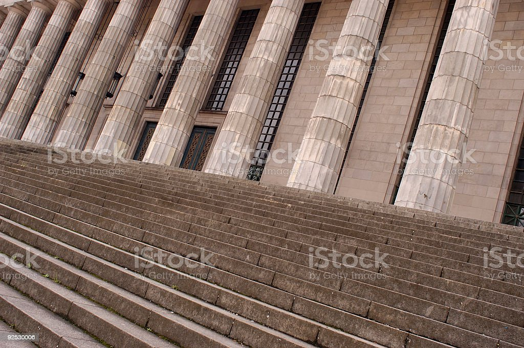 Stairs and columns law building royalty-free stock photo