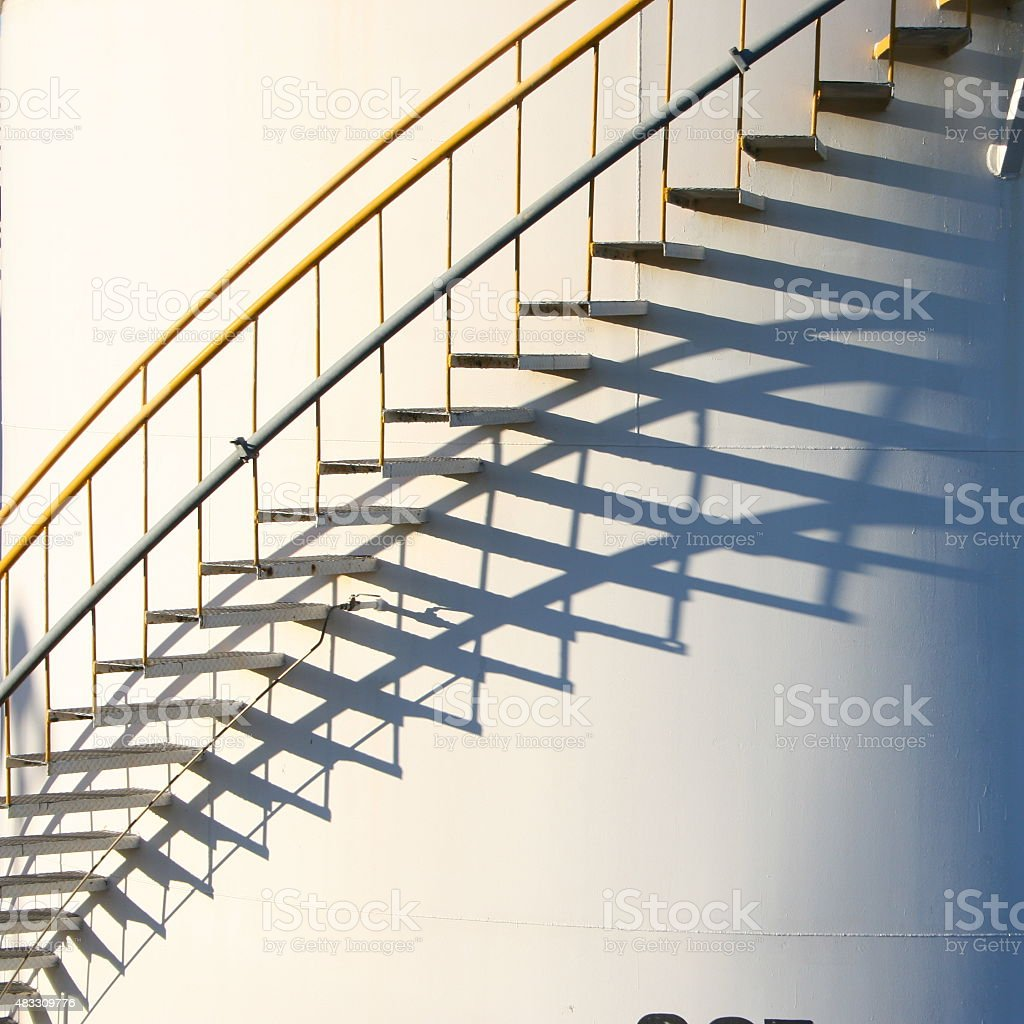 Stairs and shadows stock photo