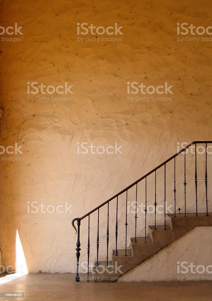 stairs and stucco royalty-free stock photo