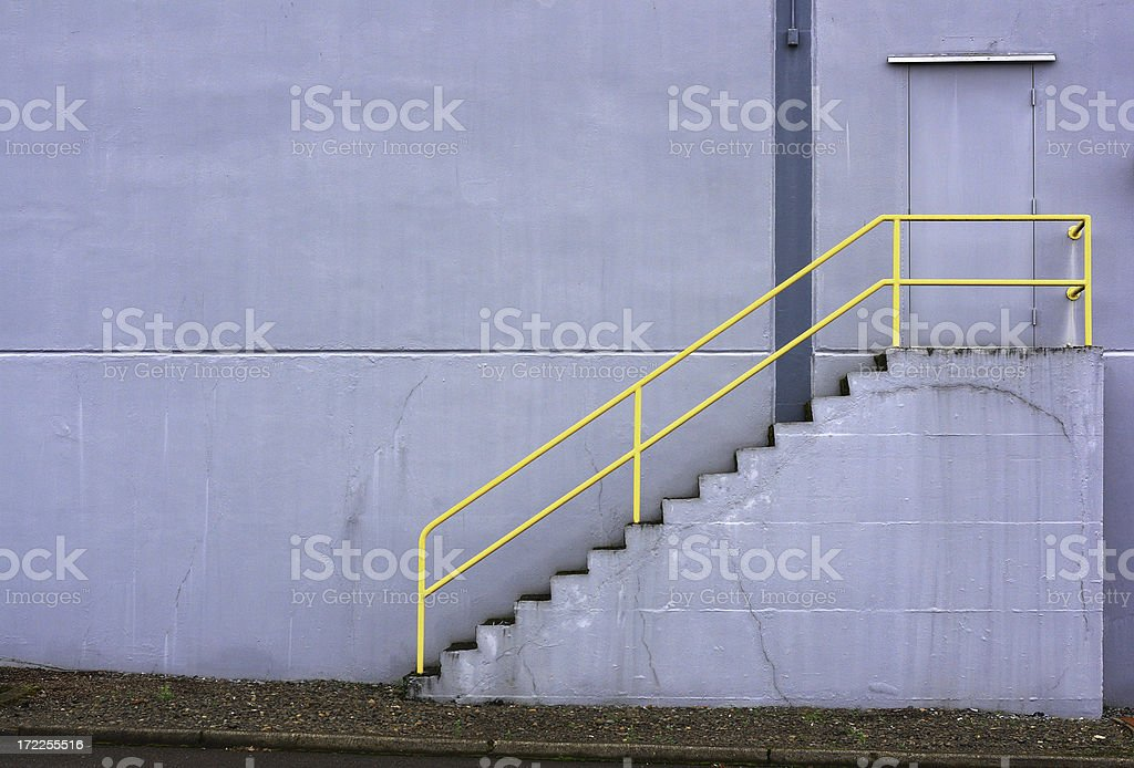 Stairs and wall stock photo