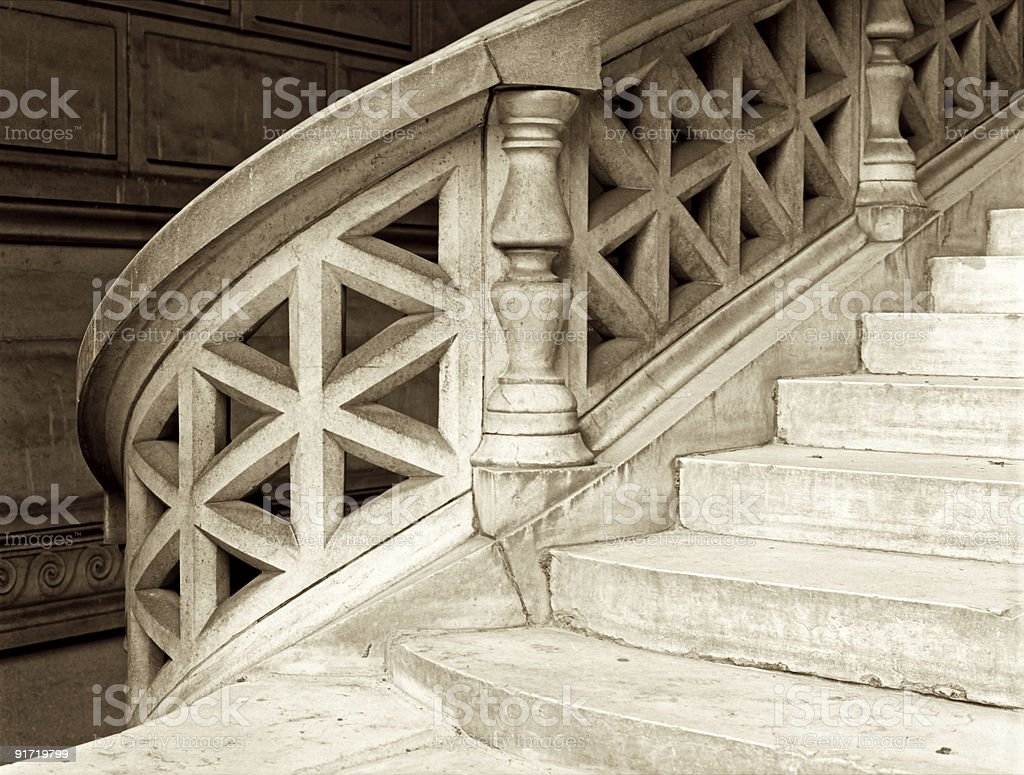 Stairs at Hotel Dieu royalty-free stock photo