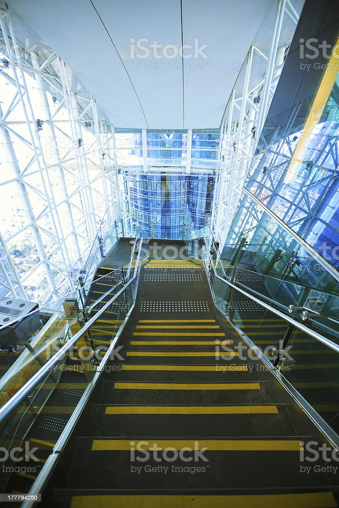 Stairs at modern shopping malls royalty-free stock photo