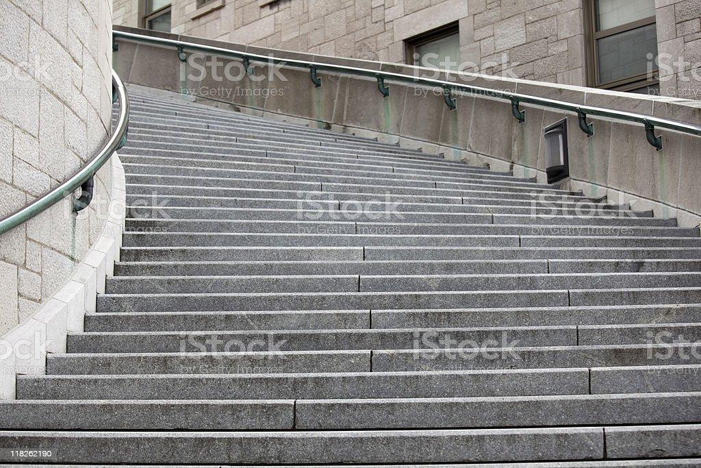 Stairs at Saint Joseph's Oratory, Oratoire St Joseph Montreal Ca stock photo