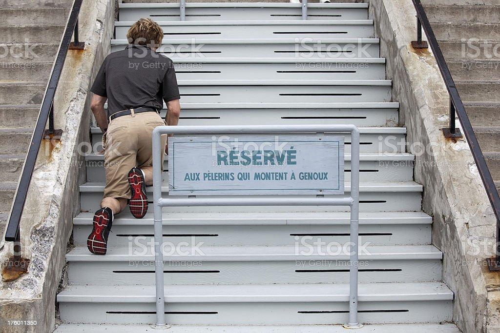 Stairs at Saint Joseph's Oratory, Oratoire St Joseph Montreal Canada royalty-free stock photo