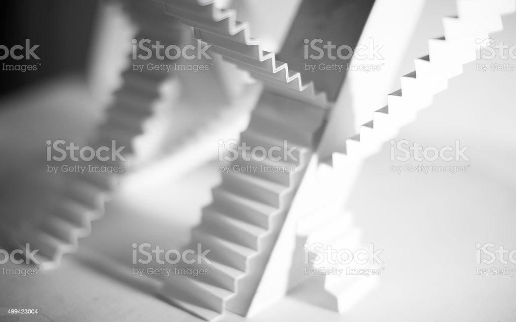 stairs choice impassable path stock photo