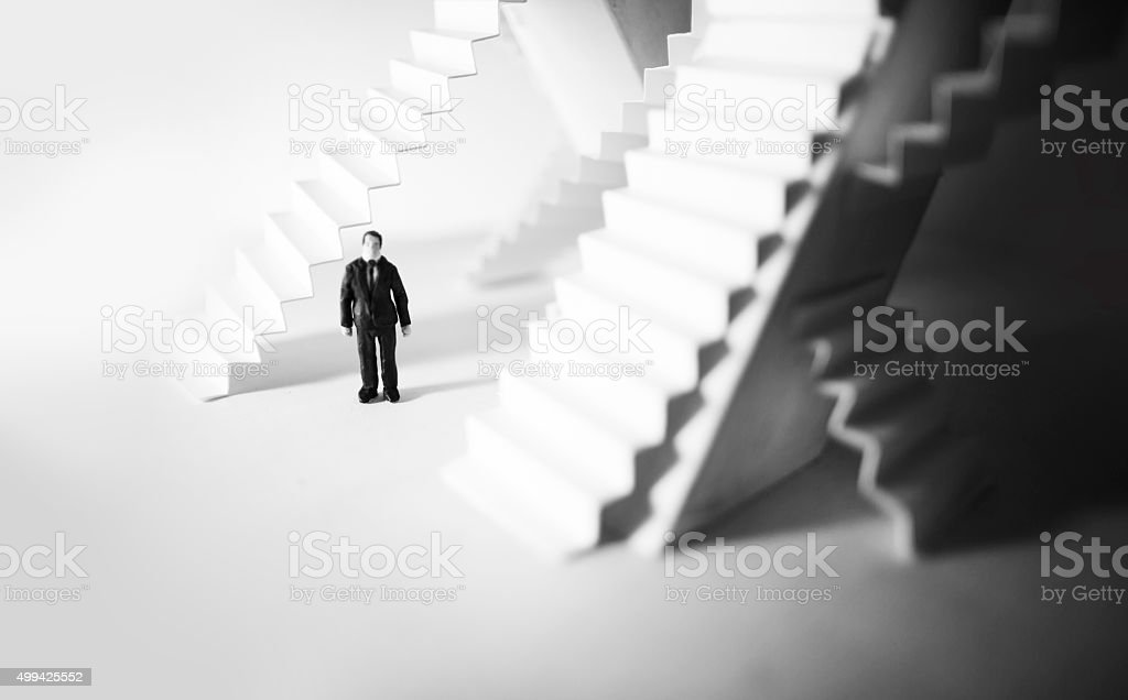 stairs choices in bussiness stock photo