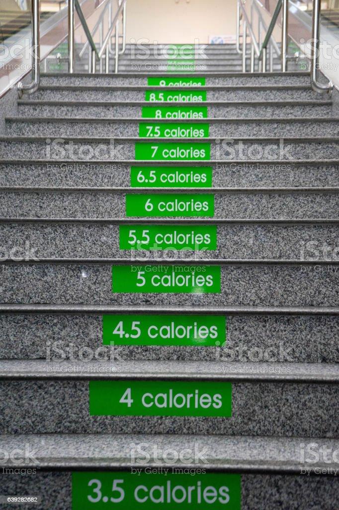 Stairs from ground floor upward stock photo