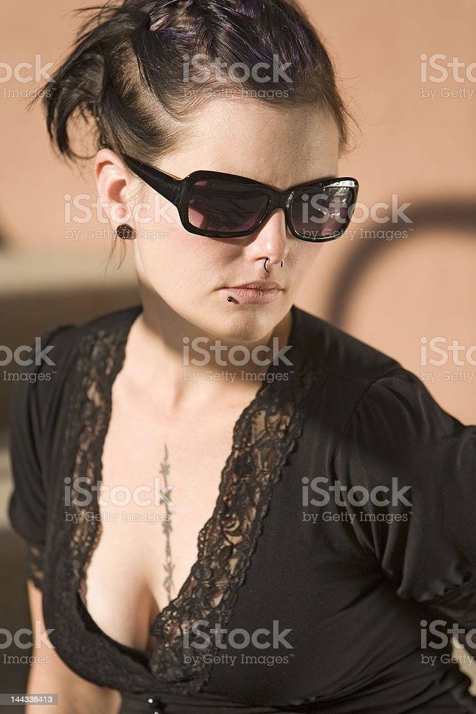 Stairs Girl 10 royalty-free stock photo
