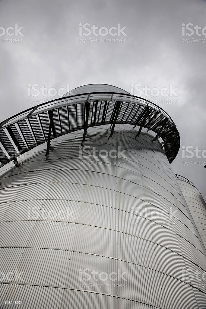 Stairs going Around a Storage Tan royalty-free stock photo