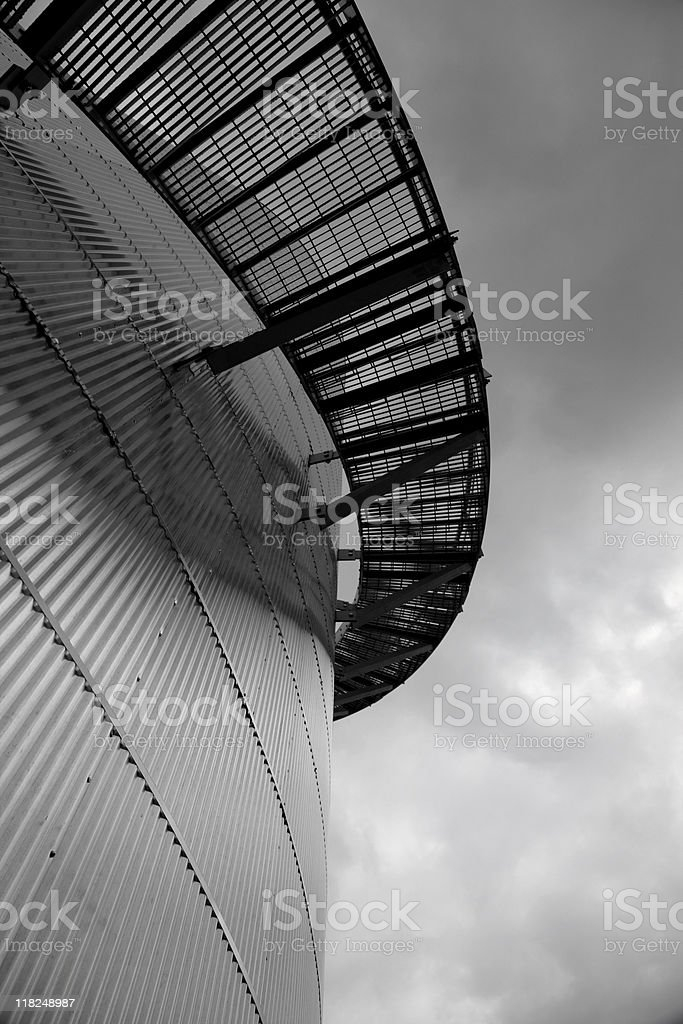 Stairs going Around a Storage Tank 2 royalty-free stock photo