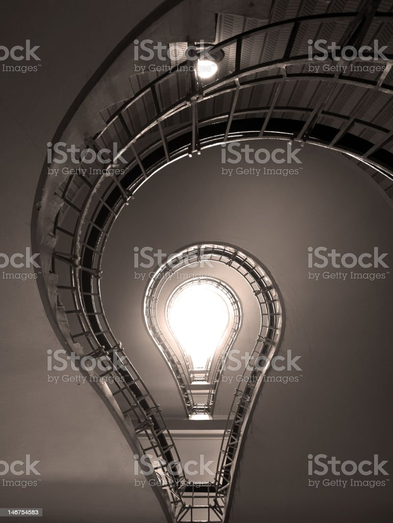 Stairs in a light-bulb shape royalty-free stock photo