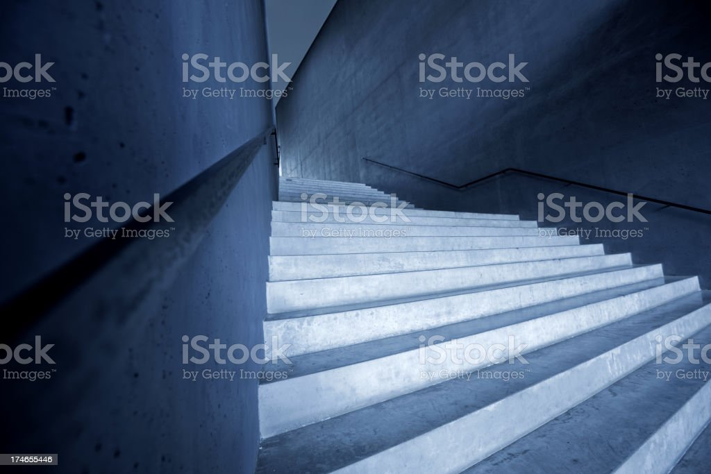 Stairs in a modern building royalty-free stock photo