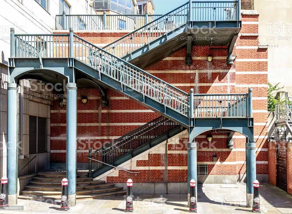 Stairs in Apothecary Street in London stock photo