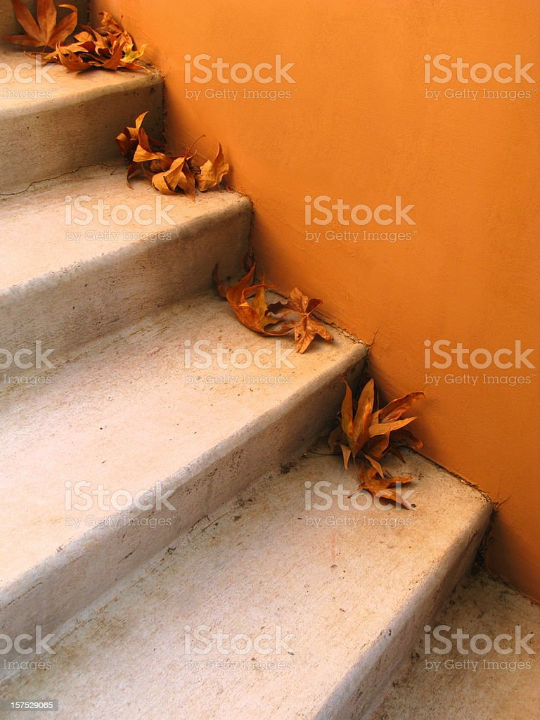 Stairs In Autumn royalty-free stock photo