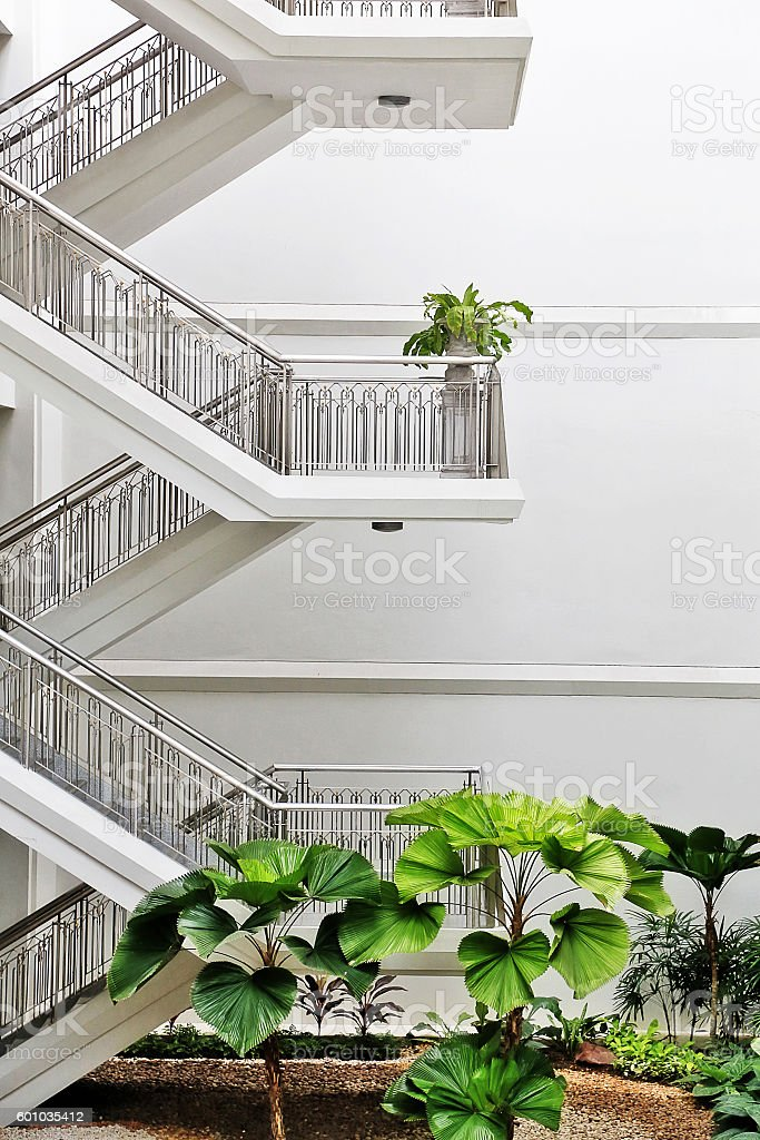 Stairs in building stock photo