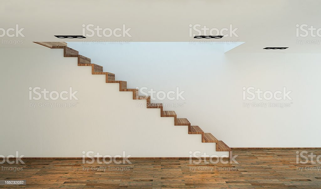 stairs in modern house royalty-free stock photo