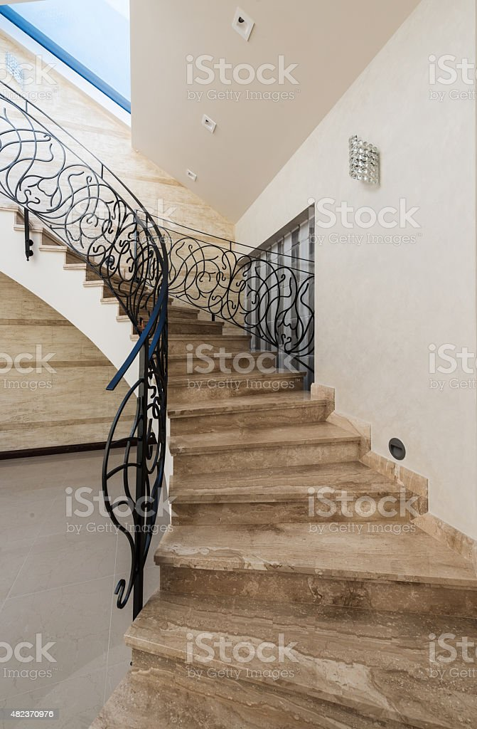 Stairs in modern interior stock photo