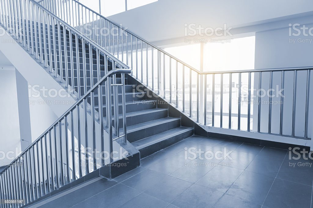 stairs in office stock photo