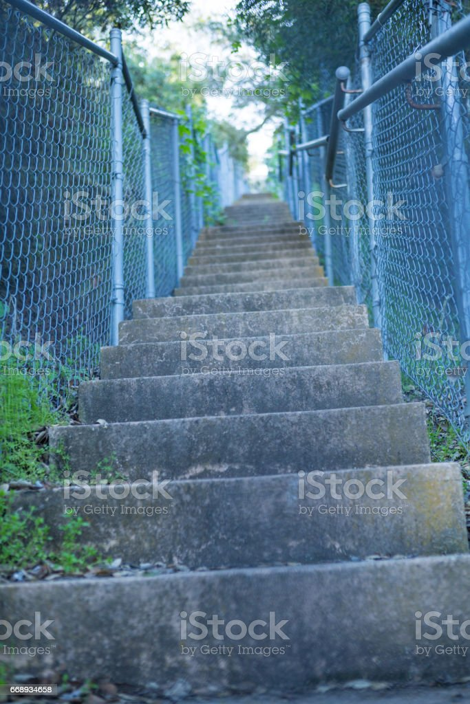Stairs in Palos Verdes stock photo