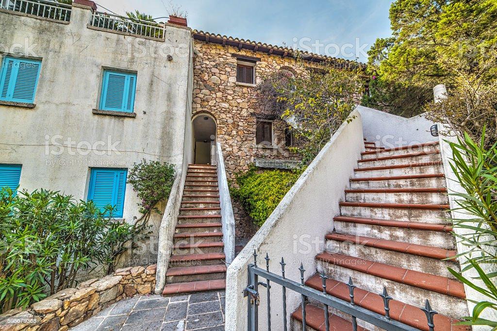 stairs in Porto Rotondo stock photo