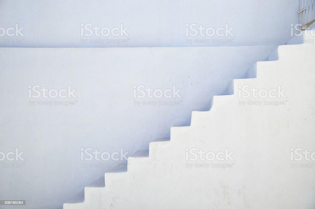 Stairs in Santorini, Greece stock photo