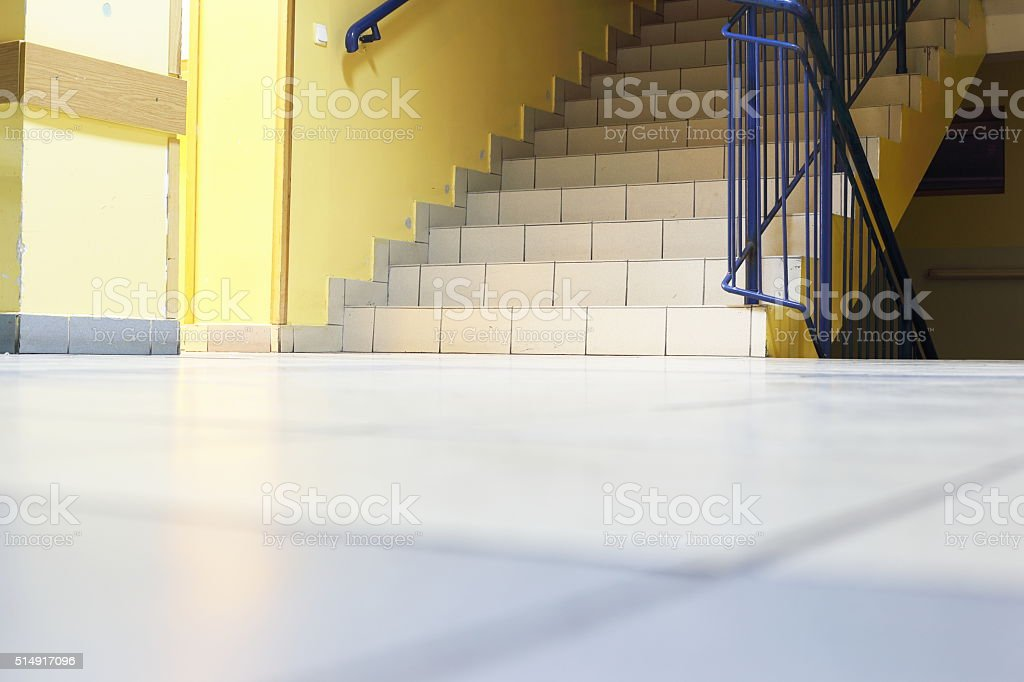 stairs in school royalty-free stock photo