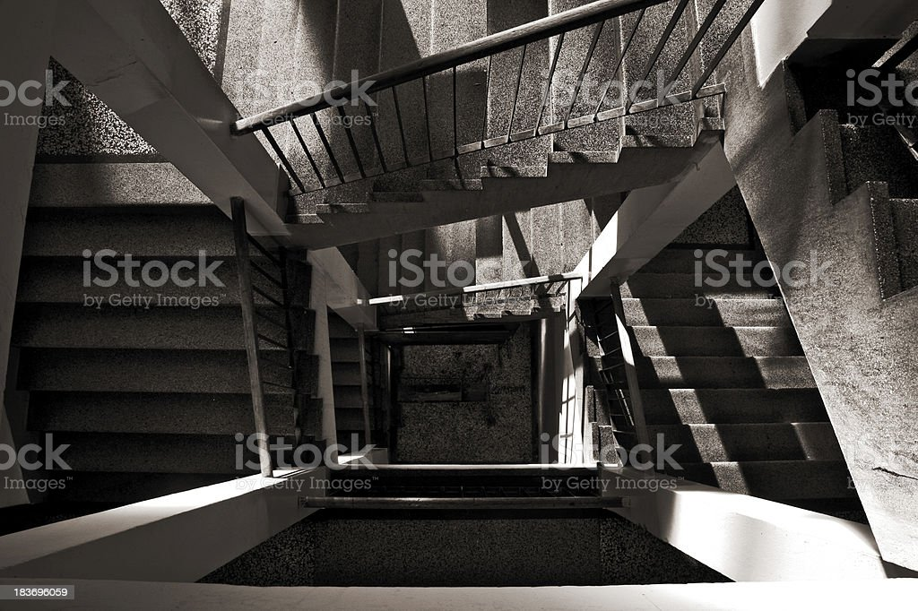Stairs in the building stock photo