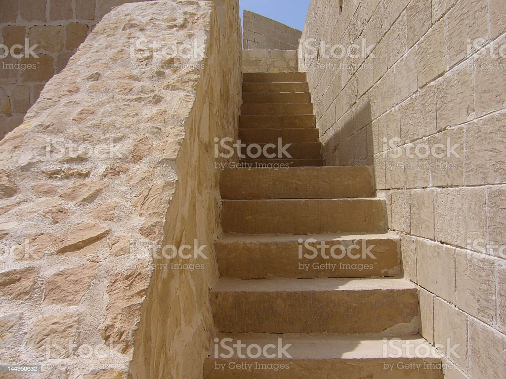 Stairs in the citadel royalty-free stock photo