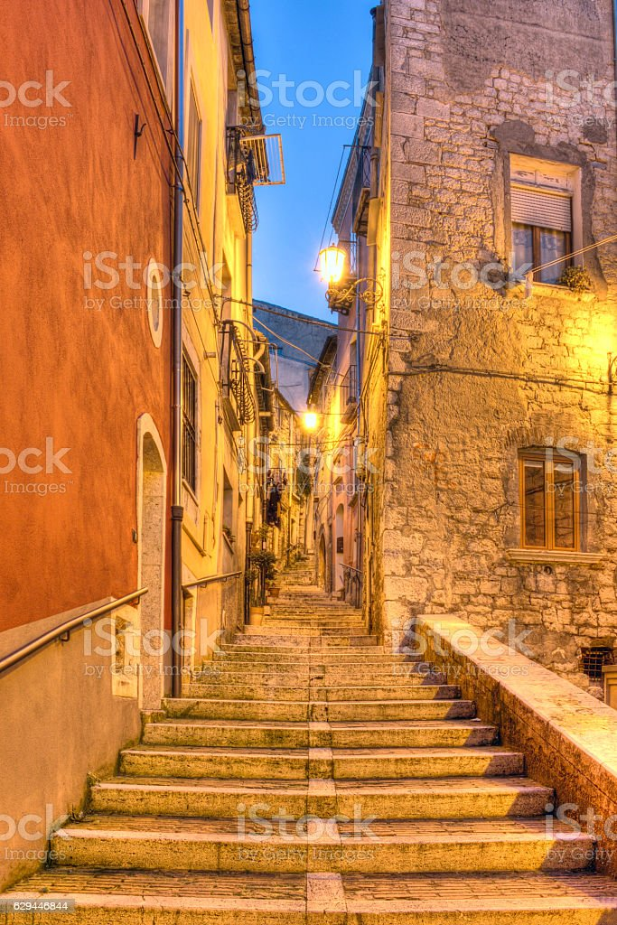 stairs in the old town stock photo