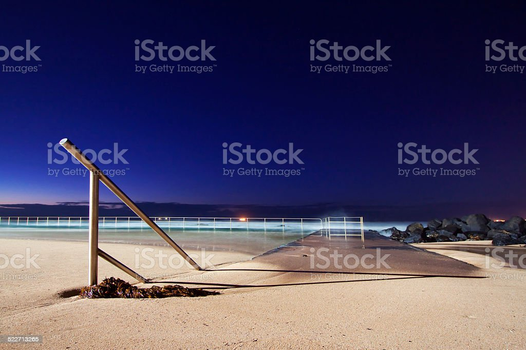 Stairs in the sand stock photo