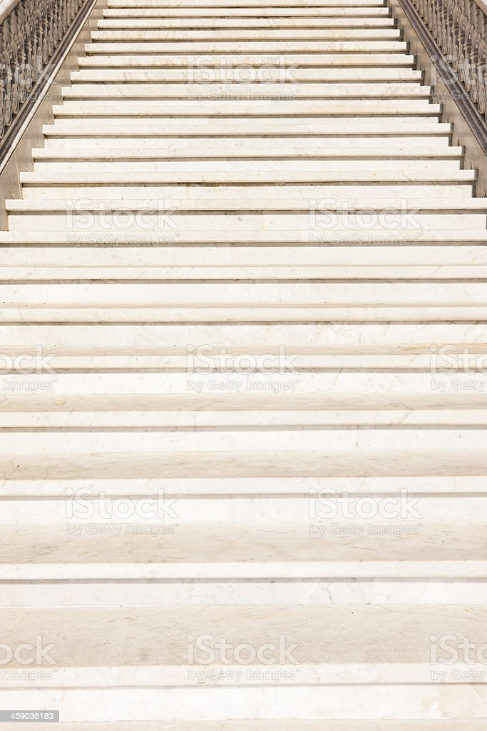 Stairs in the street place Madrid, Spain royalty-free stock photo