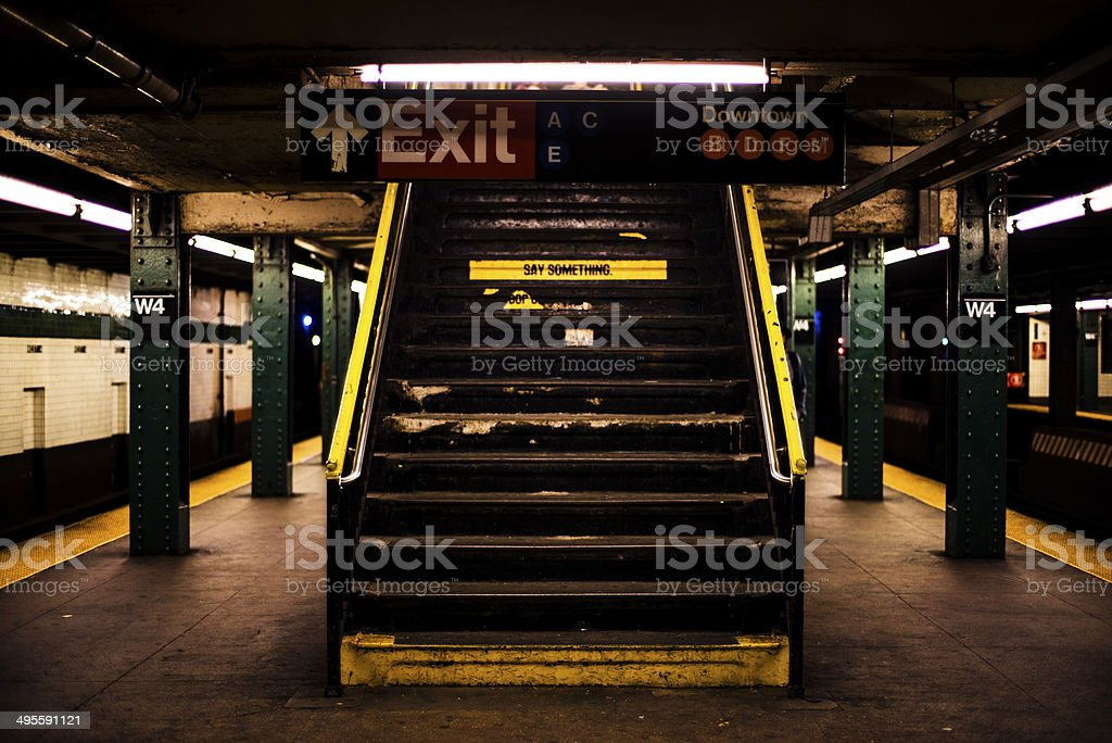 Stairs of subway royalty-free stock photo