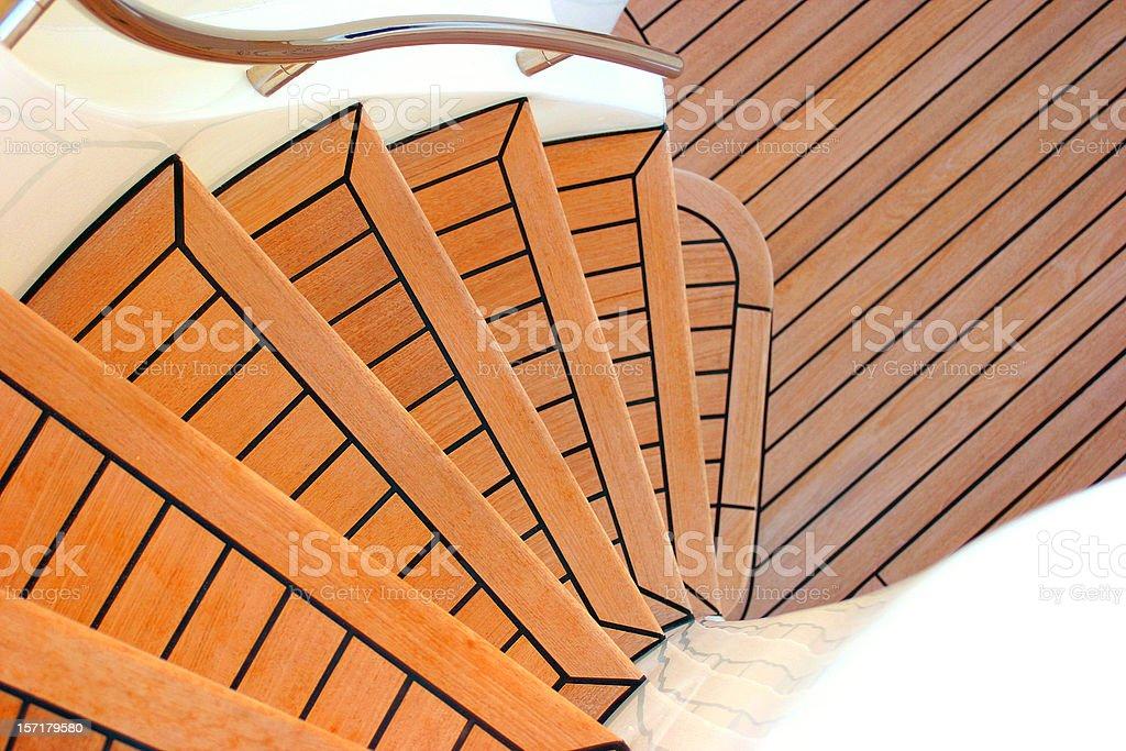 Stairs of yacht stock photo