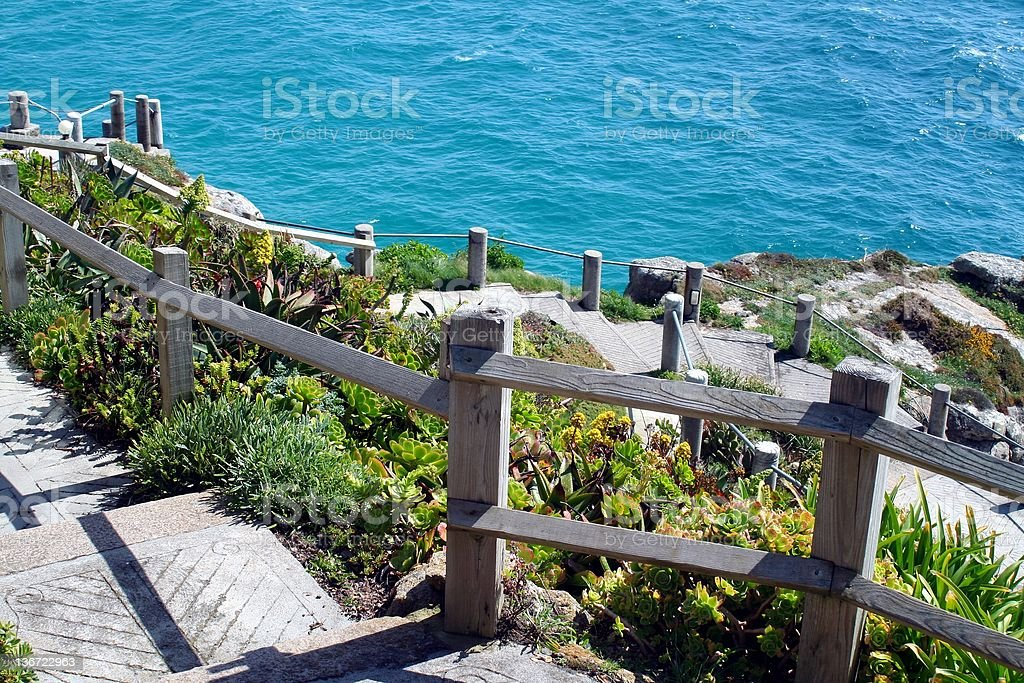 Stairs on the cliff royalty-free stock photo