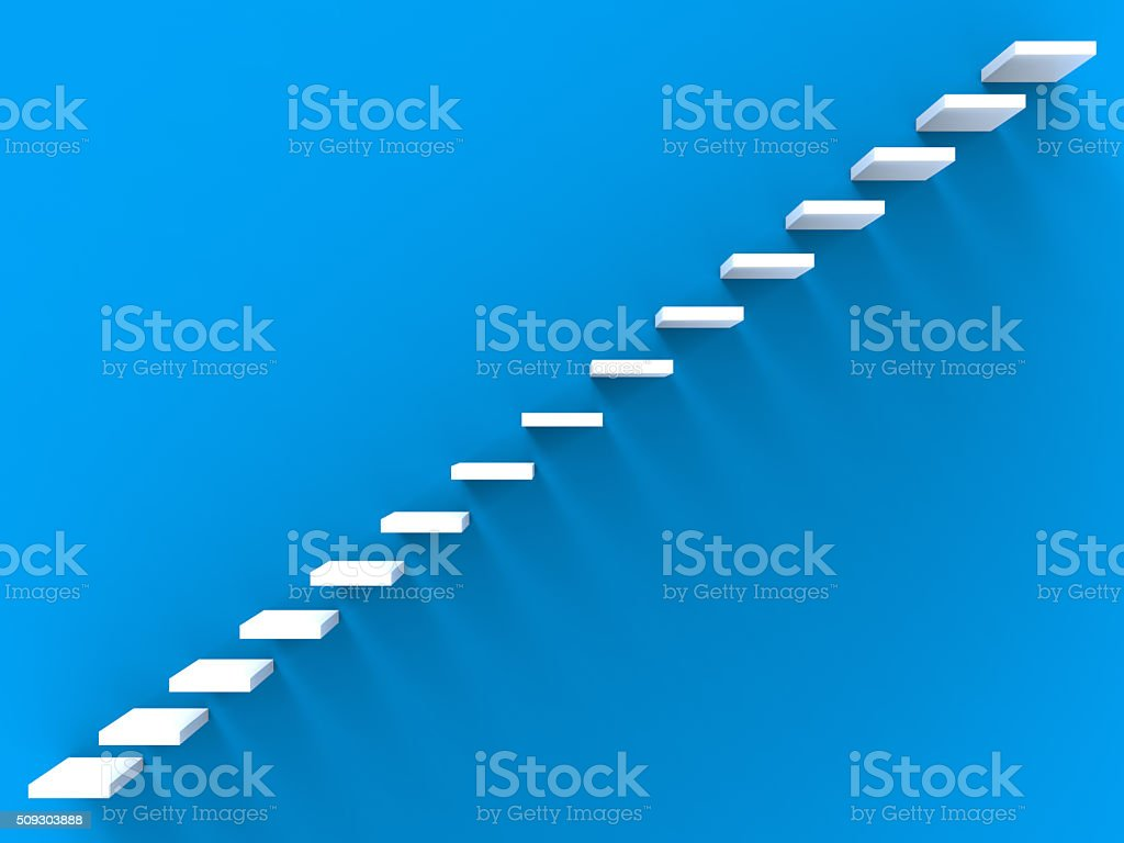 Stairs On Wall stock photo