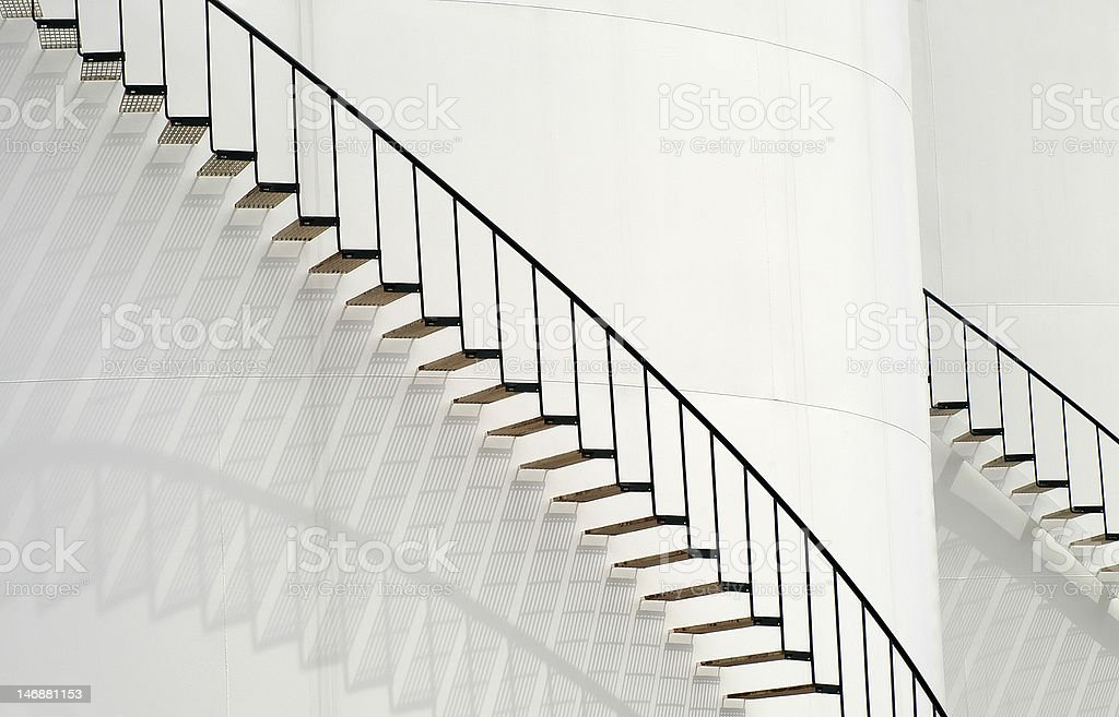 Stairs on White royalty-free stock photo