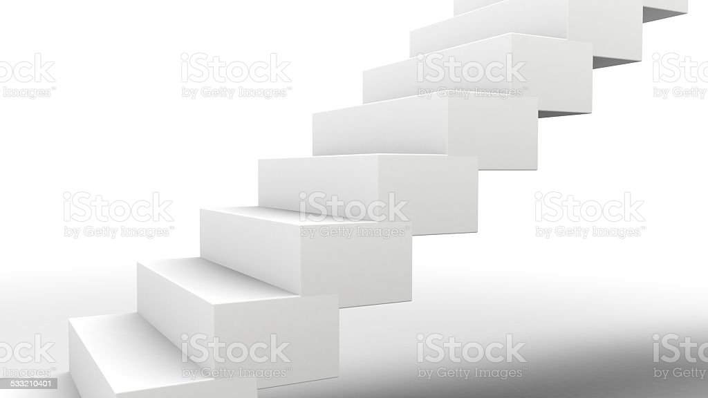 Stairs on White stock photo