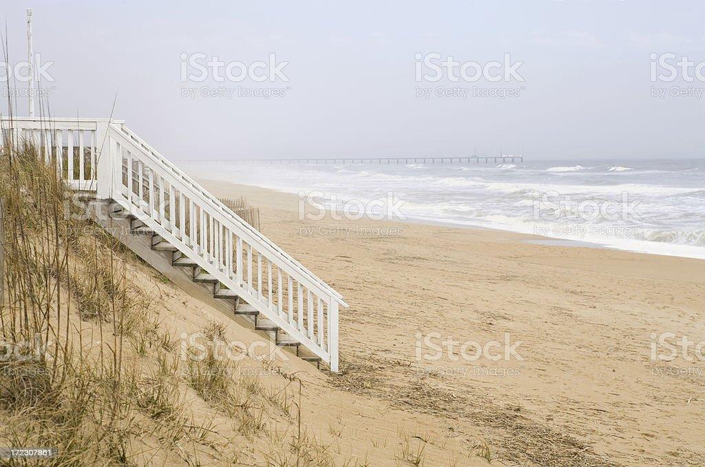 Stairs onto Beach royalty-free stock photo
