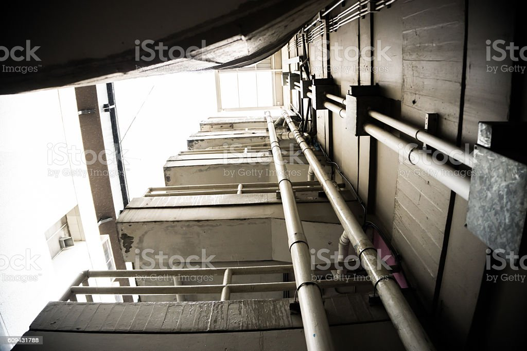 Stairs Parking. stock photo