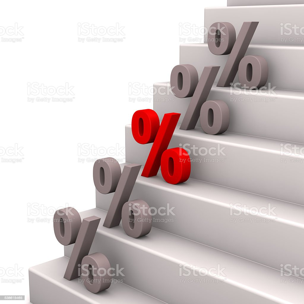 Stairs Percents stock photo