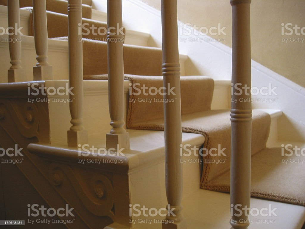 Stairs - Through Bars royalty-free stock photo