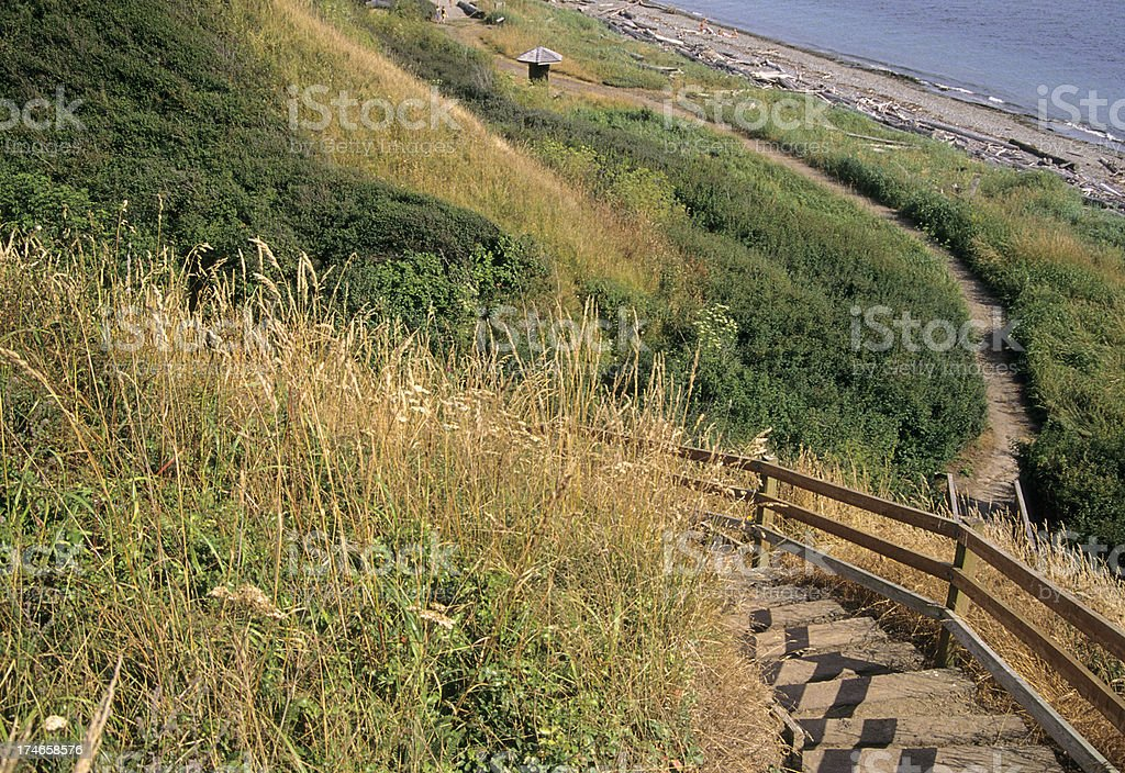 Stairs to beach royalty-free stock photo