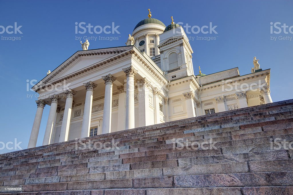 Stairs to church royalty-free stock photo
