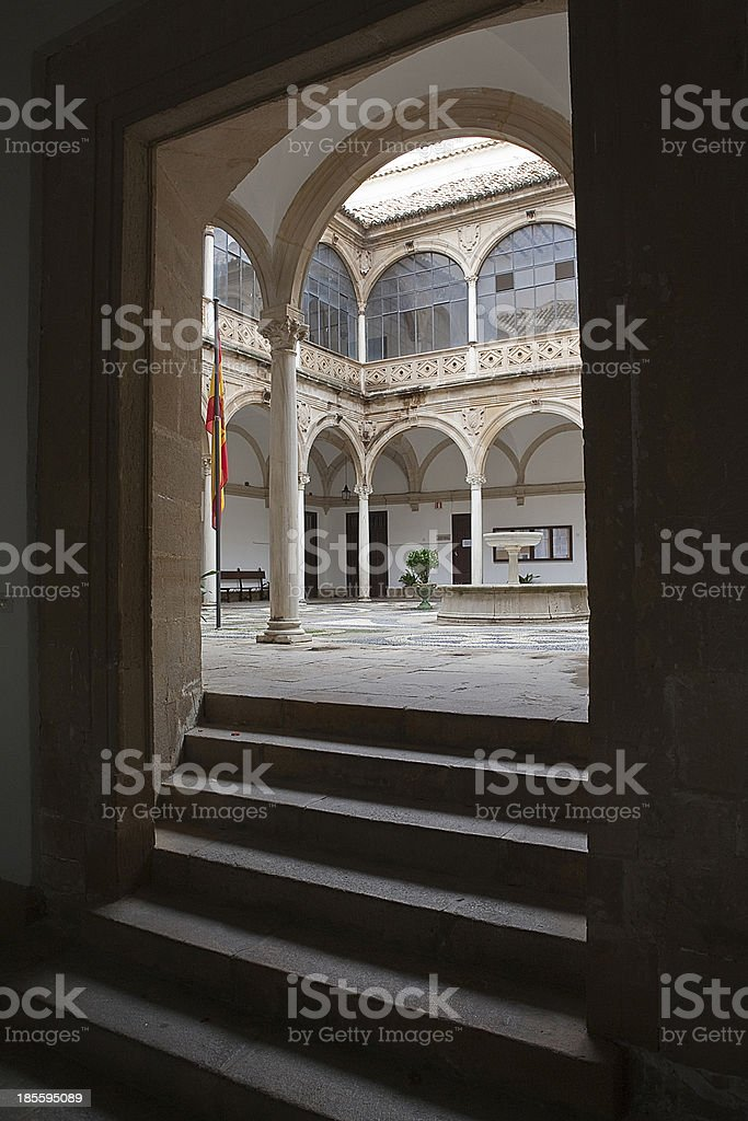 Stairs to Cloister, Ubeda, Spain royalty-free stock photo