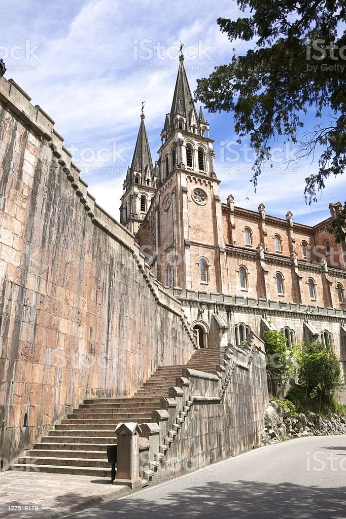 stairs to Covadonga basilica royalty-free stock photo