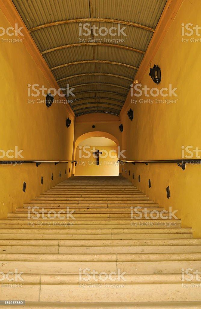Treppe zum cross Lizenzfreies stock-foto